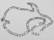 Stříbrný řetízek Figaro 04