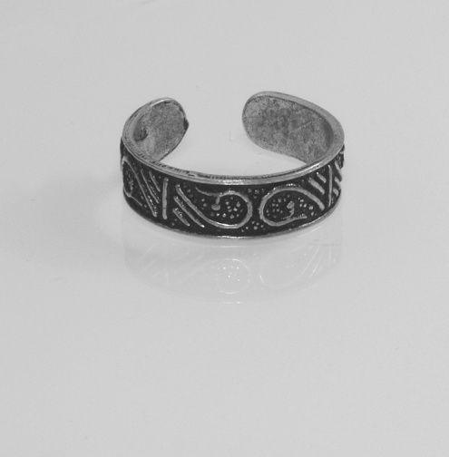 1.Stříbrný prstýnek na nohu Nr.4500510
