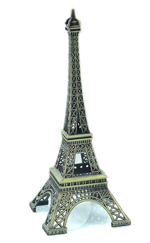 Kovová dekorace replika Eiffelové věže