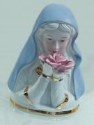 Keramická soška Panna Marie s Růží
