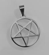 Přívěsek z chirurgické oceli Obrácený Pentagram