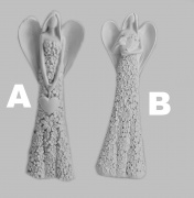 Keramocká dekorace, soška Andělíčka, dvě varianty