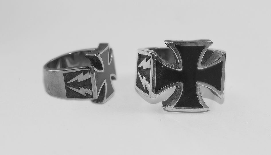 Prsten z chirurgické oceli, Maltézák nr. 020