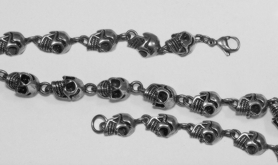 1. Náramek z chirurgické oceli, Lebky nr. 16
