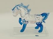 2.1., Skleněná dekorace, figurka koně v modré barvě