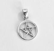 Stříbrný přívěsek Pentagram nr. 018