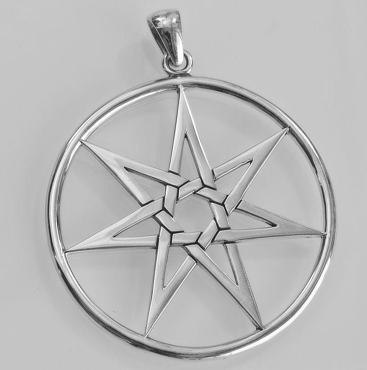Stříbrný přívěsek Elfská zhvězda