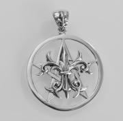 Přívěsek Pentagram s Lílii
