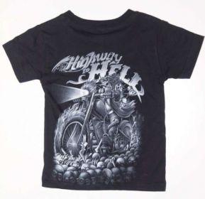 Dětské tričko s motorkářským motivem. HIGWAY TO HELL HERRO BUFF