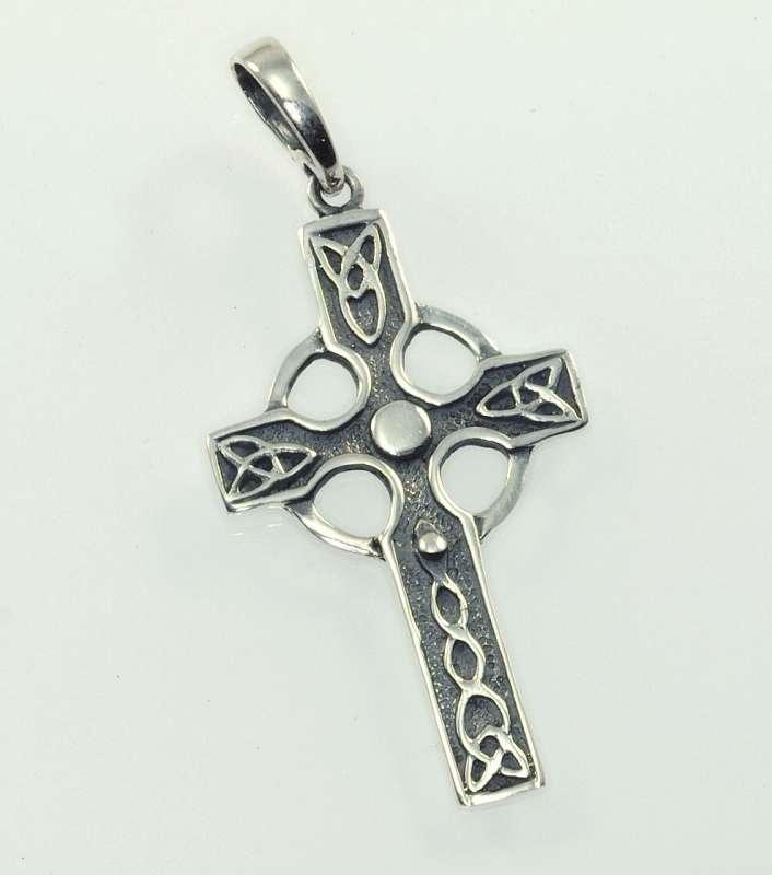 Stříbrný přívěsek Keltský kříž 2