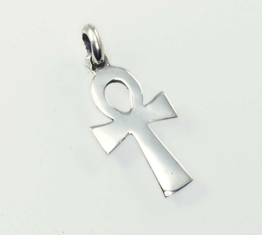 Stříbrný přívěsek Nilský kříž nil3
