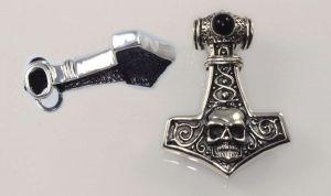 Stříbrný přívěsek - Thorovo kladivo 15