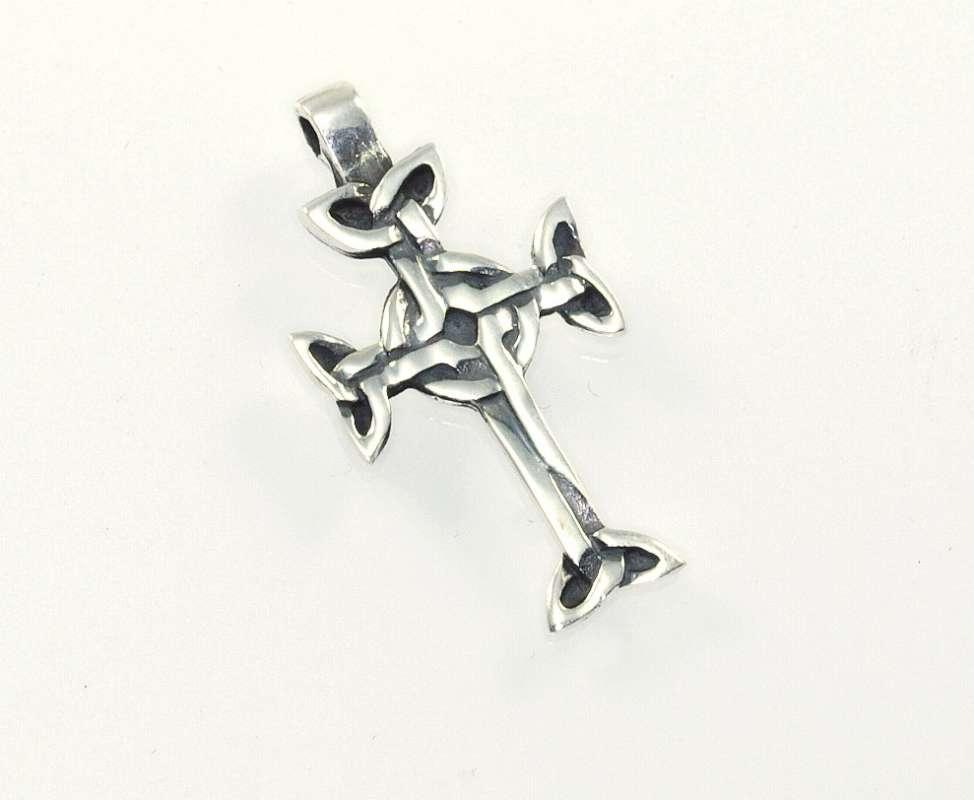 Stříbrný přívěsek Keltský kříž 9