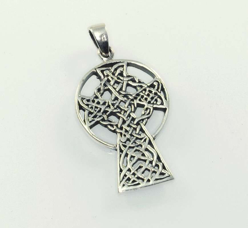 stříbrný přívěsek Keltský kříž kelt8