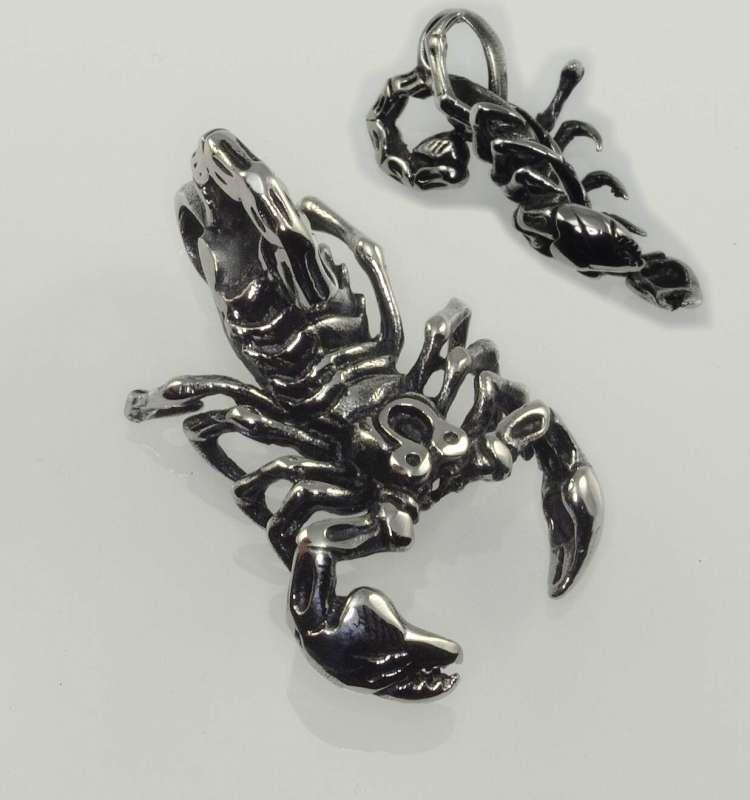 Ocelový přívěsek Škorpión