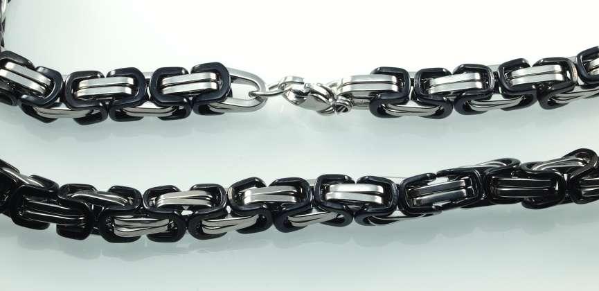 ocelový řetízek Dundy black