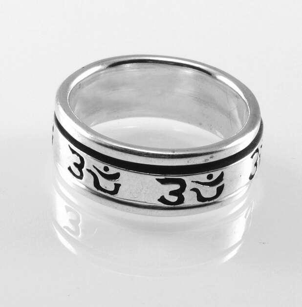 stříbrný prsten Aleph