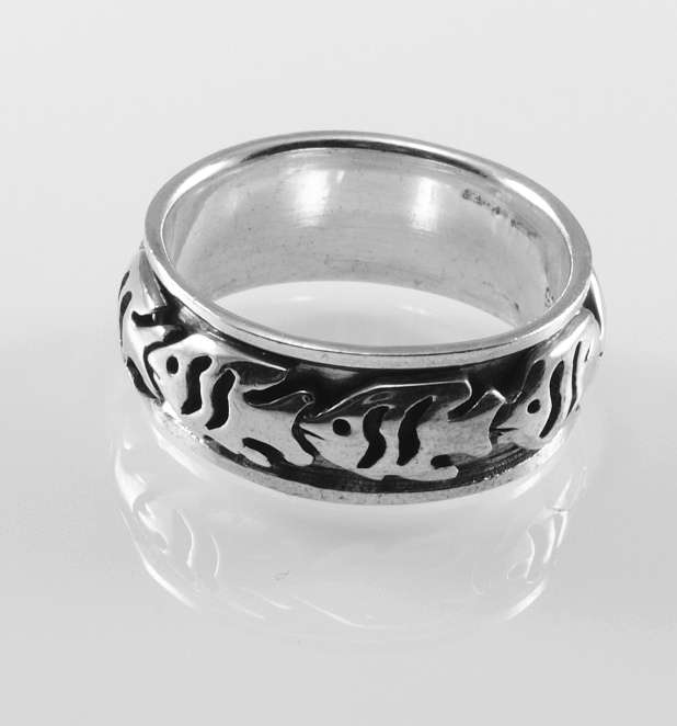 stříbrný prsten Pirane