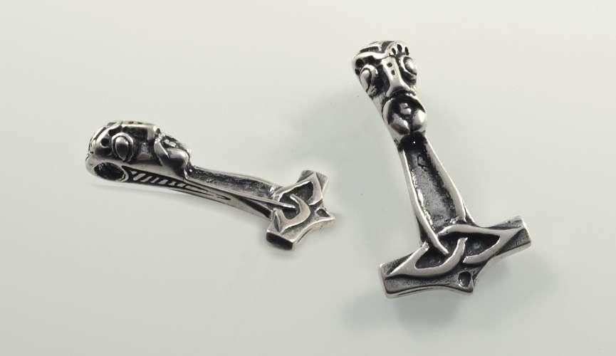Stříbrný přívěsek Thorovo kladivo VI: