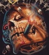 Detail obrázku Lebka s doutníkem