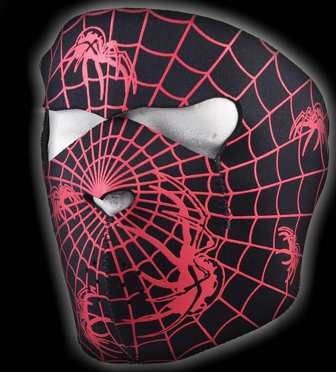 Motorkářská maska Spiderman pavučina Dovoz Thailand
