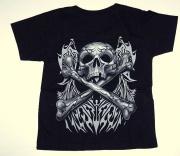 Zadní část trička Pirátská lebka