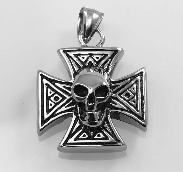 Ocelový přívěsek Maltézský kříž I.