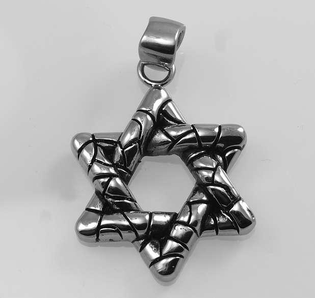 Ocelový přívěsek Pentagram 1