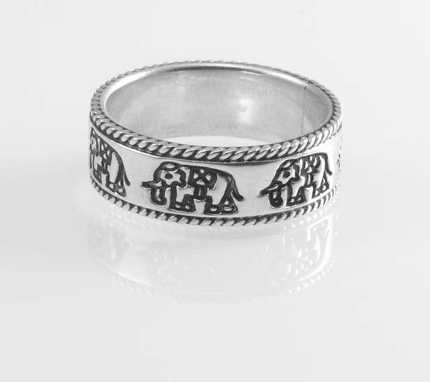 Stříbrný prsten Slon I.