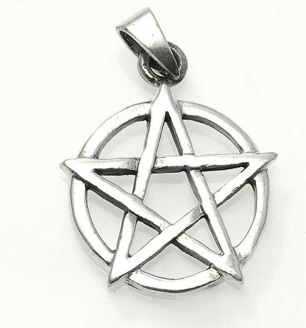 Stříbrný přívěsek Pentagram No.22.  070161028