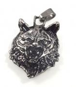 Ocelový přívěsek - Hlava vlka