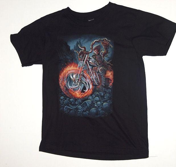 Dětské tričko Dábelský motorkář