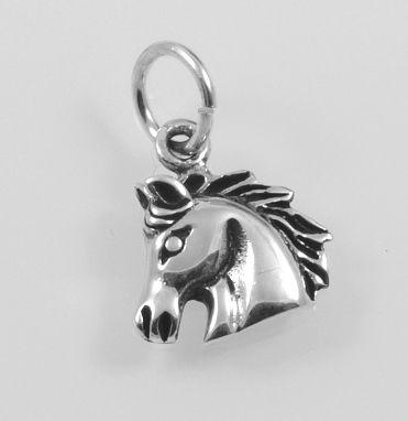 Stříbrný přívěsek Hlava koně.
