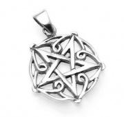 Stříbrný přívěsek  Obrácený Pentagram No.2