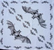 Šátek - Bílo černý Netopýr