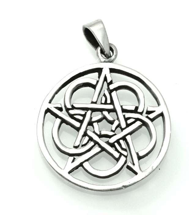Stříbrný přívěsek Pentagram No. 020.