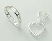 Stříbrné přívěskySrdíčka No.1 070161007a