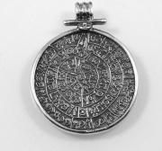 stříbrný přívěsek, Sumerská mince, líc