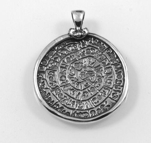 Stříbrný přívěsek Mince , rubová strana