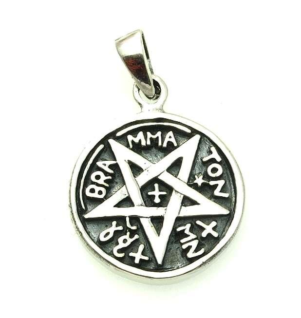 Stříbrný přívěsek Pentagram No. 018