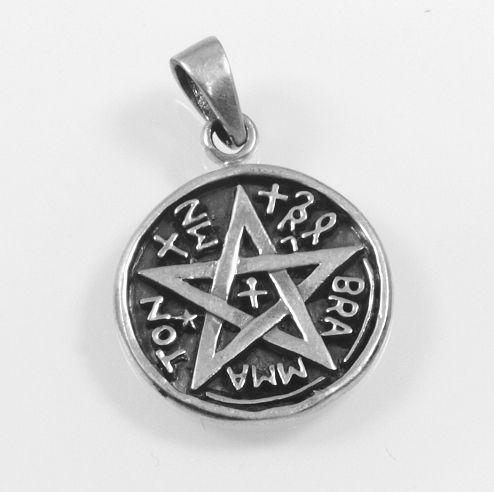 Stříbrný přívěsek Pentagram No.019