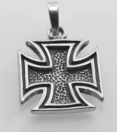 Stříbrný přívěsek Maltézský kříž No1.