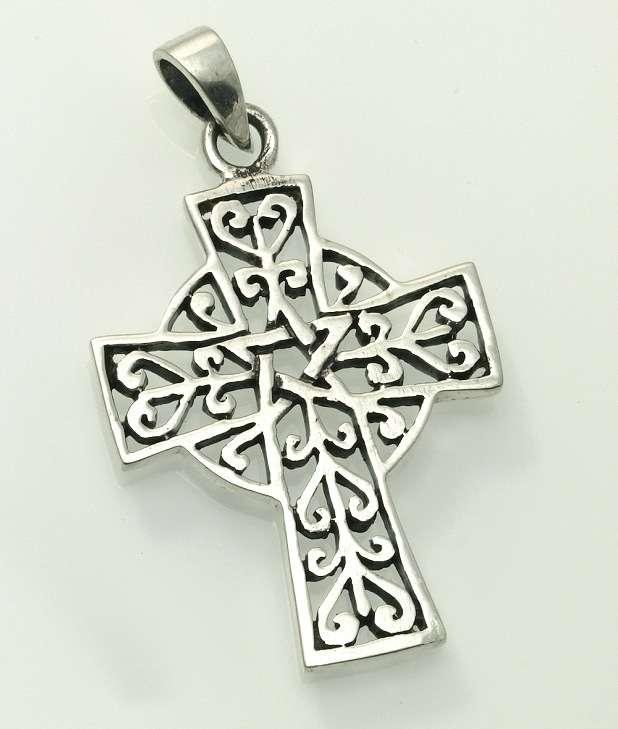 Stříbrný přívěsek, Keltský kříž. Kelt 013.  070161065
