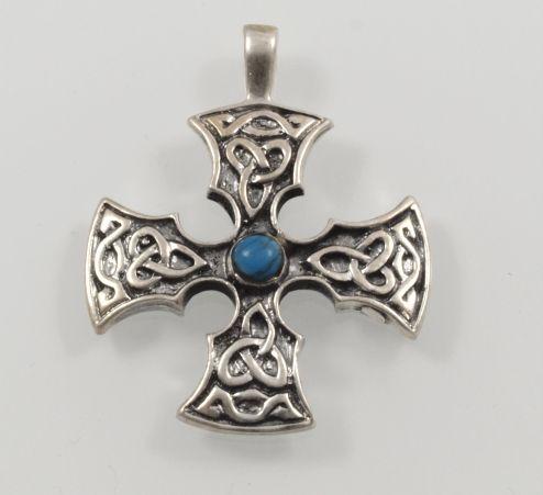 Stříbrný přívěsek Keltský kříž