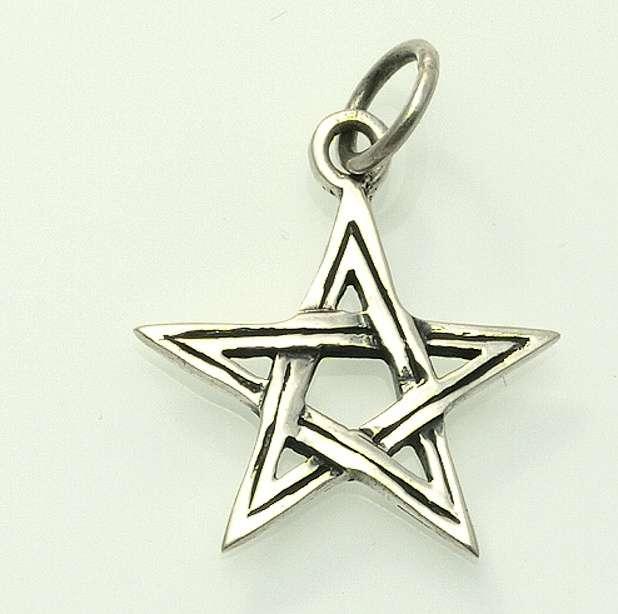 ThajskoSilvermanufacture. Stříbrný přívěsek, Pentagram. AGPRIV3620049