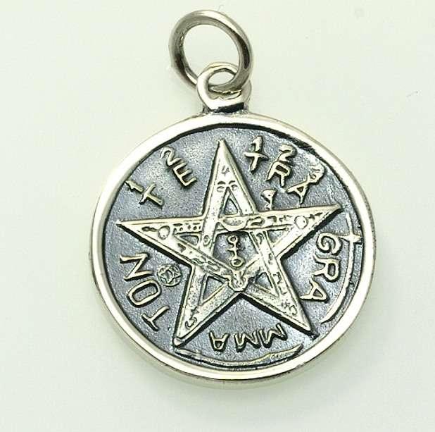 Stříbrný přívěsek Pentagram No. 03