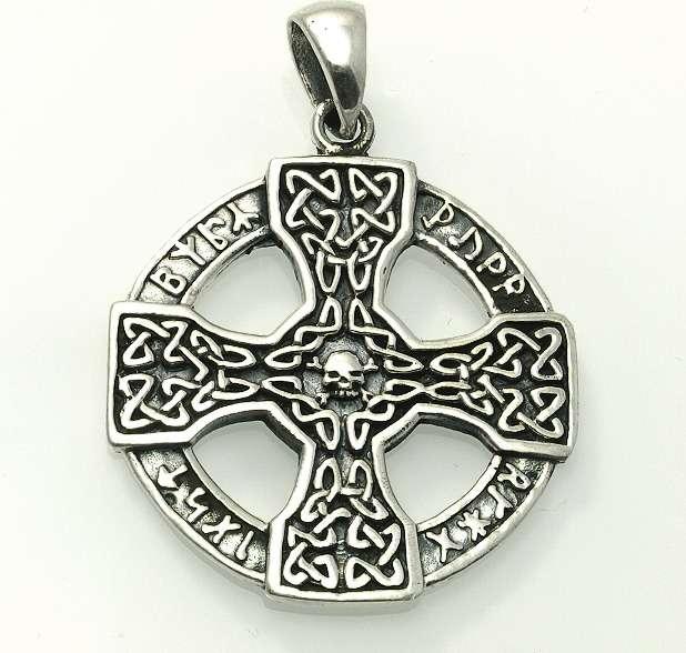 Stříbrný přívěsek,Keltský kříž Kelt 14