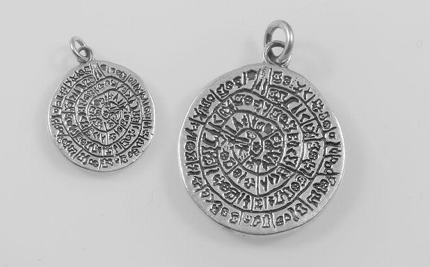 Stříbrný přívěsek Sumerská mince No.5