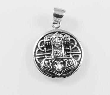 Stříbrný přívěsek Thorovo kladivo No.15