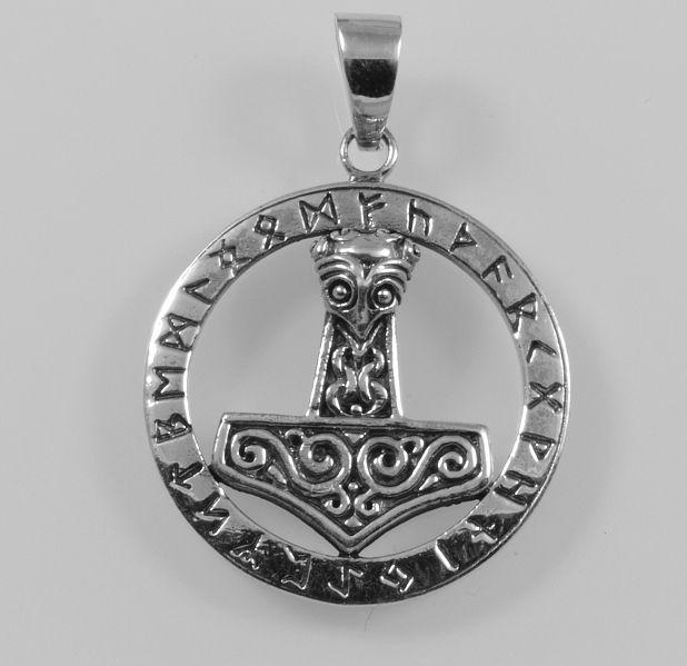 Stříbrný přívěsek Thorovo kladivo No.43